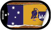 "Australian Capital Flag Country Flag Scroll Dog Tag Kit 2"" Wholesale Metal Novelty Necklace"