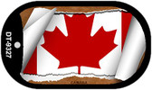 "Canada Flag Country Flag Scroll Dog Tag Kit 2"" Wholesale Metal Novelty Necklace"