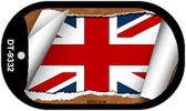 "Britain Flag Country Flag Scroll Dog Tag Kit 2"" Wholesale Metal Novelty Necklace"