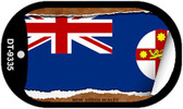 "New South Wales Flag Country Flag Scroll Dog Tag Kit 2"" Wholesale Metal Novelty Necklace"