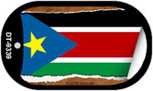 "South Sudan Flag Country Flag Scroll Dog Tag Kit 2"" Wholesale Metal Novelty Necklace"