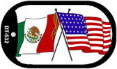 "American Mexico Flag Country Flag Dog Tag Kit 2"" Wholesale Metal Novelty Necklace"