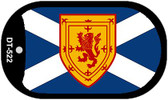 "Scotland St Andrews Flag Country Flag Dog Tag Kit 2"" Wholesale Metal Novelty Necklace"