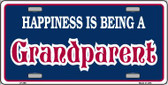 Happiness Being Grandparent Wholesale Metal Novelty License Plate LP-268