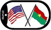 "American Burkina Faso Flag Country Flag Dog Tag Kit 2"" Wholesale Metal Novelty Necklace"