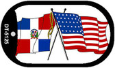 "American Dominican Republic Flag Country Flag Dog Tag Kit 2"" Wholesale Metal Novelty Necklace"