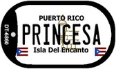 "Princesa Puerto Rico Flag Dog Tag Kit 2"" Wholesale Metal Novelty Necklace"