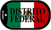 """Distrito Federal Dog Tag Kit 2"""" Wholesale Metal Novelty Necklace"""
