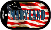 "Maryland Dog Tag Kit 2"" Wholesale Metal Novelty Necklace"