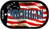 "Michigan Dog Tag Kit 2"" Wholesale Metal Novelty Necklace"