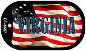 "Virginia Dog Tag Kit 2"" Wholesale Metal Novelty Necklace"