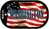 "Washington Dog Tag Kit 2"" Wholesale Metal Novelty Necklace"