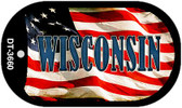 "Wisconsin Dog Tag Kit 2"" Wholesale Metal Novelty Necklace"