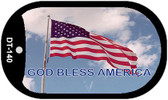 "God Bless America Dog Tag Kit 2"" Wholesale Metal Novelty Necklace"