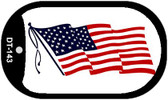 "American Flag Dog Tag Kit 2"" Wholesale Metal Novelty Necklace"