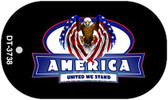 "America United Dog Tag Kit 2"" Wholesale Metal Novelty Necklace"