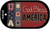 "God Bless America USA Dog Tag Kit 2"" Wholesale Metal Novelty Necklace"