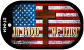"In God We Trust Dog Tag Kit 2"" Wholesale Metal Novelty Necklace"
