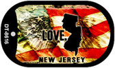 """New Jersey Love Flag Dog Tag Kit 2"""" Wholesale Metal Novelty Necklace"""