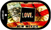 """New Mexico Love Flag Dog Tag Kit 2"""" Wholesale Metal Novelty Necklace"""
