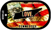 """Tennessee Love Flag Dog Tag Kit 2"""" Wholesale Metal Novelty Necklace"""