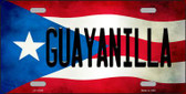 Guayanilla Puerto Rico Flag Background License Plate Metal Novelty Wholesale