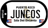 Juncos Puerto Rico Flag Dog Tag Kit Wholesale Metal Novelty Necklace
