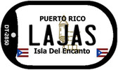 Lajas Puerto Rico Flag Dog Tag Kit Wholesale Metal Novelty Necklace