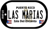 Las Marias Puerto Rico Flag Dog Tag Kit Wholesale Metal Novelty Necklace