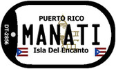Manati Puerto Rico Flag Dog Tag Kit Wholesale Metal Novelty Necklace