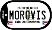 Morovis Puerto Rico Flag Dog Tag Kit Wholesale Metal Novelty Necklace