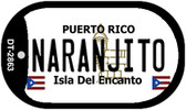 Naranjito Puerto Rico Flag Dog Tag Kit Wholesale Metal Novelty Necklace