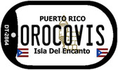 Orocovis Puerto Rico Flag Dog Tag Kit Wholesale Metal Novelty Necklace