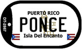 Ponce Puerto Rico Flag Dog Tag Kit Wholesale Metal Novelty Necklace