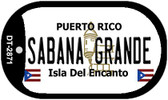 Sabana Grande Puerto Rico Flag Dog Tag Kit Wholesale Metal Novelty Necklace