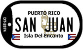 San Juan Puerto Rico Flag Dog Tag Kit Wholesale Metal Novelty Necklace