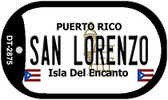 San Lorenzo Puerto Rico Flag Dog Tag Kit Wholesale Metal Novelty Necklace