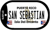San Sebastian Puerto Rico Flag Dog Tag Kit Wholesale Metal Novelty Necklace
