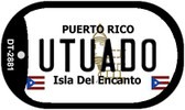 Utuado Puerto Rico Flag Dog Tag Kit Wholesale Metal Novelty Necklace