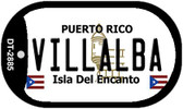 Villalba Puerto Rico Flag Dog Tag Kit Wholesale Metal Novelty Necklace