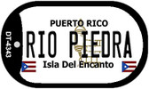 Rio Piedra Puerto Rico Flag Dog Tag Kit Wholesale Metal Novelty Necklace