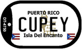 Cupey Puerto Rico Flag Dog Tag Kit Wholesale Metal Novelty Necklace