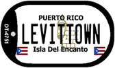 Levittown Puerto Rico Flag Dog Tag Kit Wholesale Metal Novelty Necklace