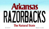 Razorbacks Arkansas State License Plate Magnet Novelty Wholesale M-10037