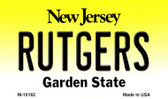 Rutgers New Jersey State License Plate Wholesale Magnet
