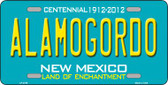 Alamogordo New Mexico Teal Wholesale Novelty Metal License Plate LP-2789