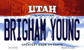 Brigham Young Utah State License Plate Wholesale Magnet