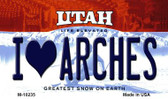 I Love Arches Utah State License Plate Wholesale Magnet