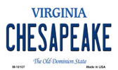 Chesapeake Virginia State License Plate Wholesale Magnet