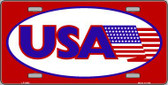 USA American Flag Wholesale Vanity Metal Novelty License Plate LP-2802